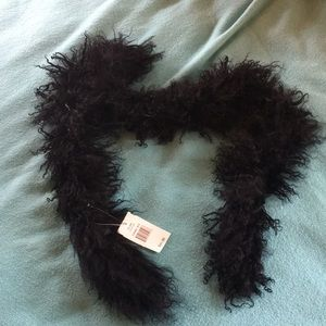 NWT CEJON Black 100% Lamb's Wool SOFT Neck Scarf
